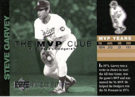 STEVE GARVEY 2002 UD Piece Of History MVP Club Insert Card M13 Los Angeles Dodgers FREE SHIPPING