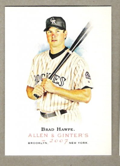 BRAD HAWPE 2007 Topps Allen & Ginter SHORT PRINT Card #243 Colorado Rockies FREE SHIPPING