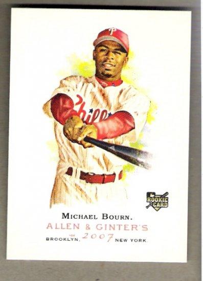 MICHAEL BOURN 2007 Topps Allen & Ginter SHORT PRINT ROOKIE Card # 317 Philadelphia Phillies