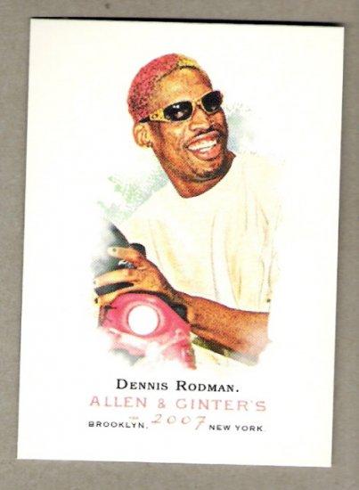 DENNIS RODMAN 2007 Topps Allen & Ginter SHORT PRINT Card #331 FREE SHIPPING