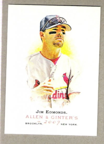 JIM EDMONDS 2007 Topps Allen & Ginter SHORT PRINT Card #263 St Louis Cardinals FREE SHIPPING