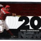 RYAN ZIMMERMAN 2007 Topps Chrome Generation Now INSERT Card #GN238 Washington Nationals