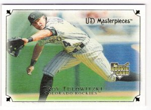 TROY TULOWITZKI 2007 UD Masterpieces ROOKIE Card #34 Rockies SASE Upper Deck RC 34