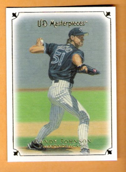 RANDY JOHNSON 2007 UD Masterpieces Card #48 Arizona Diamondbacks FREE SHIPPING 48