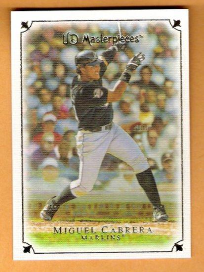 MIGUEL CABRERA 2007 UD Masterpieces Card #37 Florida Marlins FREE SHIPPING Miami