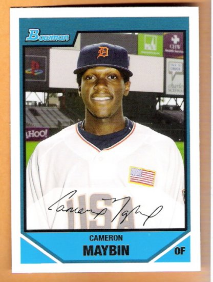 CAMERON MAYBIN 2007 Bowman Draft Futures Game Prospects Insert Card # BDPP107 DETROIT TIGERS