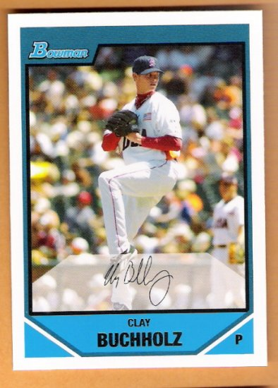 CLAY BUCHHOLZ 2007 Bowman Draft Futures Game Prospects Insert Card # BDPP69 Boston Red Sox