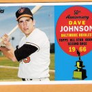 DAVE JOHNSON 2008 Topps 50th Anniversary All Star Rookie INSERT Card # AR10 Baltimore Orioles