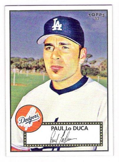 PAUL LO DUCA 2007 Topps 52 Rookie Edition Debut Flashbacks INSERT Card # DF12 Los Angeles Dodgers