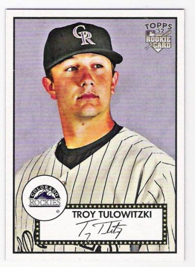 TROY TULOWITZKI 2007 Topps 52 Rookie Edition ROOKIE Card #5 Colorado Rockies FREE SHIPPING