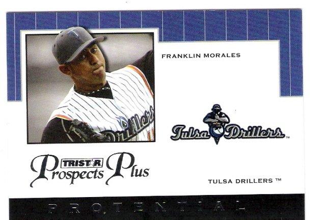 FRANKLIN MORALES 2007 Tristar Prospects Plus Protential Insert ROOKIE Card # PT-FM2 TULSA DRILLERS