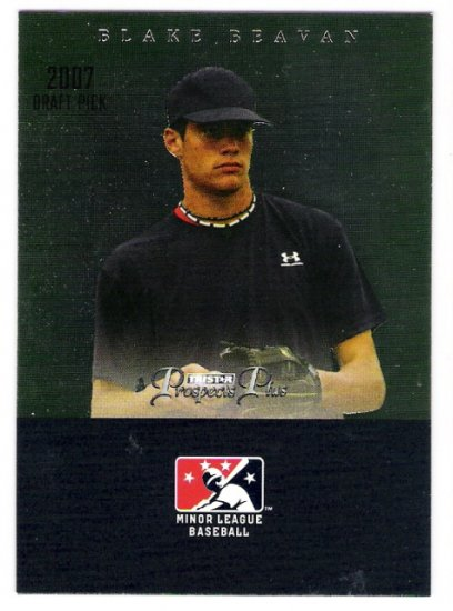 BLAKE BEAVAN 2007 Tristar Prospects Plus Draft Pick ROOKIE Card #73 Texas Rangers FREE SHIPPING