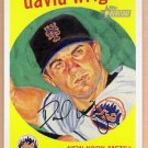 DAVID WRIGHT 2008 Topps Heritage Dick Perez INSERT Card #HDP6 New York Mets FREE SHIPPING