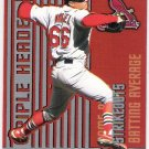 RICK ANKIEL 2000 Revolution Triple Header Holographic Silver ROOKIE Card #30 St Louis Cardinals #'d