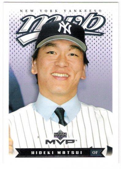 HIDEKI MATSUI 2003 Upper Deck MVP ROOKIE Card #141 New York Yankees FREE SHIPPING