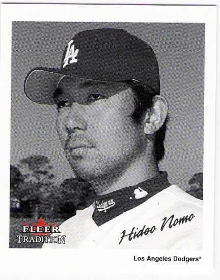 HIDEO NOMO 2003 Fleer Tradition Black & White INSERT Card #12 Los Angeles Dodgers FREE SHIPPING #d