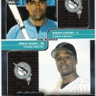 RAMON CASTRO & PABLO OZUNA 2000 Pacific Omega Rookies Card #180 #'d FREE SHIPPING Florida Marlins #d