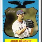 JOSH BECKETT 2008 Topps Heritage SHORT PRINT Card #498 Boston Red Sox FREE SHIPPING