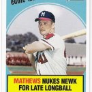 EDDIE MATHEWS 2008 Topps Heritage Baseball Flashbacks INSERT Card #BF10 Atlanta Braves FREE SHIPPING