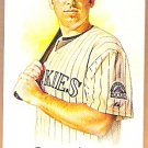 GARRETT ATKINS 2008 Topps Allen & Ginter A&G Back Mini Short Print Insert Card #95 COLORADO ROCKIES