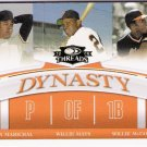 WILLIE MAYS Juan Marichal WILLIE McCOVEY 2008 Donruss Threads Dynasty INSERT Card # D-3 GIANTS