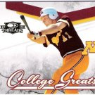 PAUL MOLITOR 2008 Donruss Threads College Greats INSERT Card #CG-5 Minnesota Golden Gophers SASE