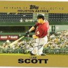 LUKE SCOTT 2007 Topps GOLD Insert Card #122 Houston Astros #'d 1190/2007 FREE SHIPPING Baseball 122