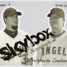 BOBBY JENKS & ERIC GAGNE 2004 Skybox Autographics Prospects Endorsed INSERT Card #2PE Dodgers Angels