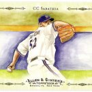 CC SABATHIA 2009 Topps Allen & Ginter Baseball Highlights Sketches INSERT Card #AGHS20 Brewers