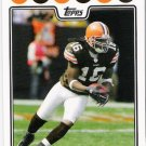 JOSHUA CRIBBS 2008 Topps Football Card #285 Cleveland Browns FREE SHIPPING 285