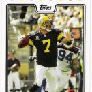 BEN ROETHLISBERGER 2008 Topps Football Card #20 Pittsburgh Steelers SASE 20