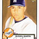 RUSSELL MARTIN 2006 Topps 52 ROOKIE Card #30 Los Angeles Dodgers SASE RC 30