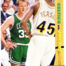 LARRY BIRD and CHUCK PERSON 1991-92 Upper Deck Classic Confrontation Card #30 Boston Celtics