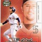 NOMAR GARCIAPARRA 2003 Fleer Focus Jersey Edition Team Colors INSERT Card #14TC Boston Red Sox