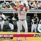 JIMMY ROLLINS 2008 Topps Stadium Club First Day Issue Parallel Card # 87 Philadelphia Phillies SASE