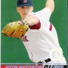JUSTIN MASTERSON 2008 Topps Stadium Club First Day Issue ROOKIE Card #138 Boston Red Sox SASE RC 138