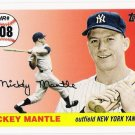 MICKEY MANTLE 2008 Topps Home Run History INSERT # MHR508 New York Yankees FREE SHIPPING MHR508