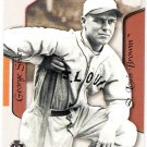 GEORGE SISLER 2003 Flair Greats Baseball Card #74 St Louis Cardinals Browns FREE SHIPPING Baseball