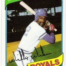 WILLIE WILSON 1980 Topps Card #157 Kansas City Royals FREE SHIPPING Baseball 157