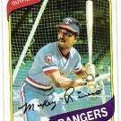 MICKEY RIVERS 1980 Topps Card #485 Texas Rangers FREE SHIPPING Baseball 485