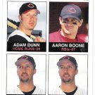 ADAM DUNN & AARON BOONE 2003 Fleer Tradition SHORT PRINT Card #8 Cincinnati Reds FREE SHIPPING