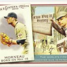 JUSTIN MORNEAU 2010 Topps Allen & Ginter This Day In History INSERT Card #TDH49 Minnesota Twins