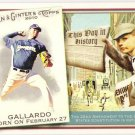 YOVANI GALLLARDO 2010 Topps Allen & Ginter This Day In History INSERT Card #TDH46 Milwaukee Brewers