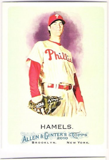 COLE HAMELS 2010 Topps Allen & Ginter Card #29 Philadelphia Phillies FREE SHIPPING 29