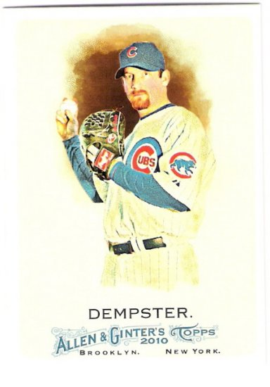 RYAN DEMPSTER 2010 Topps Allen & Ginter Card #258 Chicago Cubs FREE SHIPPING Baseball 258