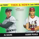 ALBERT PUJOLS & AL KALINE 2004 Topps Heritage Then & Now INSERT Card #TN2 St Louis Cardinals Tigers