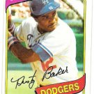 DUSTY BAKER 1980 Topps Card #255 Los Angeles Dodgers FREE SHIPPING Baseball 255