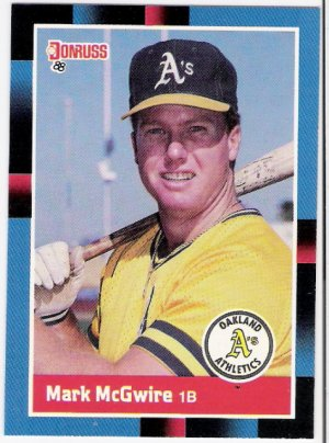 MARK MCGWIRE 1988 Donruss Card #256 Oakland A's FREE SHIPPING Baseball 256