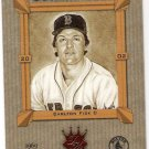 CARLTON FISK 2002 Donruss Diamond Kings Heritage Collection INSERT Card #HC-10 Boston Red Sox