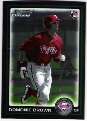 DOMONIC BROWN 2010 Bowman Draft Picks & Prospects CHROME ROOKIE Card #BDP70 Philadelphia Phillies RC